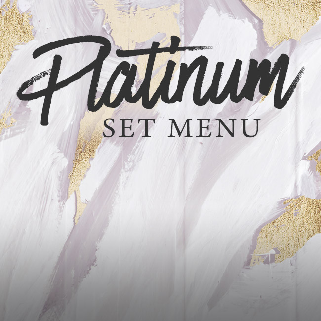 Platinum set menu at The Red Lion